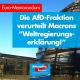 AfD verurteilt Weltregierungserklaerung