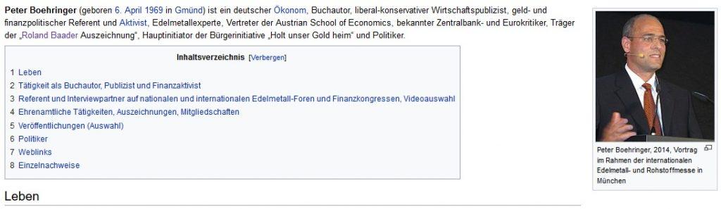Peter Boehringer auf Wikipedia als Aktivist