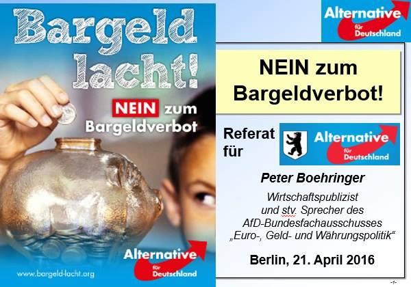 Bargeld Lacht, Vortrag Peter Boehringer