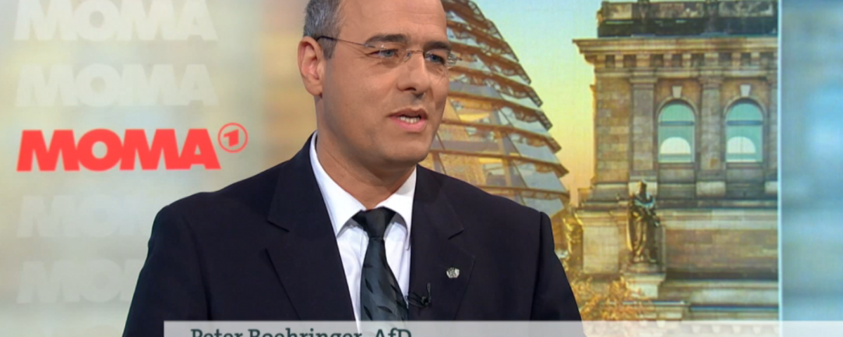 Peter Boehringer im ARD Morgemmagazin Bild_ ARD/WDR
