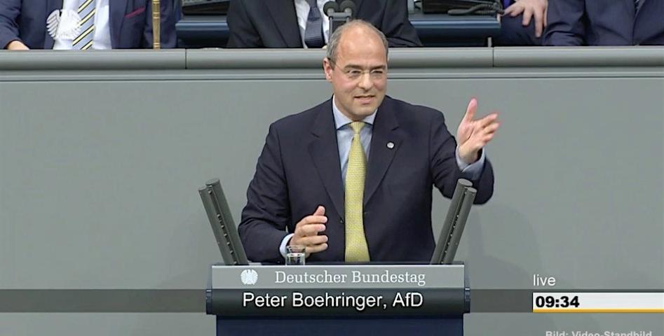 Peter Boehringer entgegnet Olaf Scholz auf erste Bundestagsrede