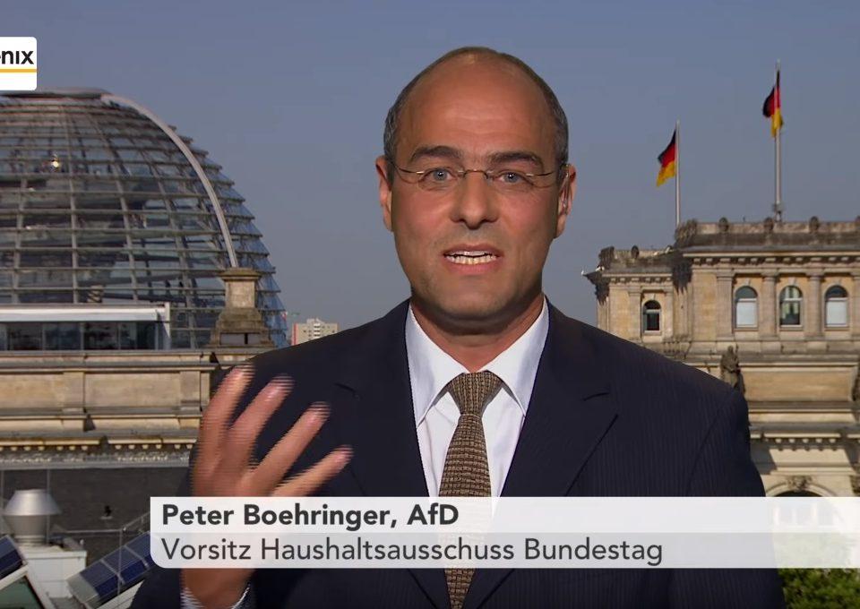 Peter Boehringer im Tagesgespräch auf phoenix