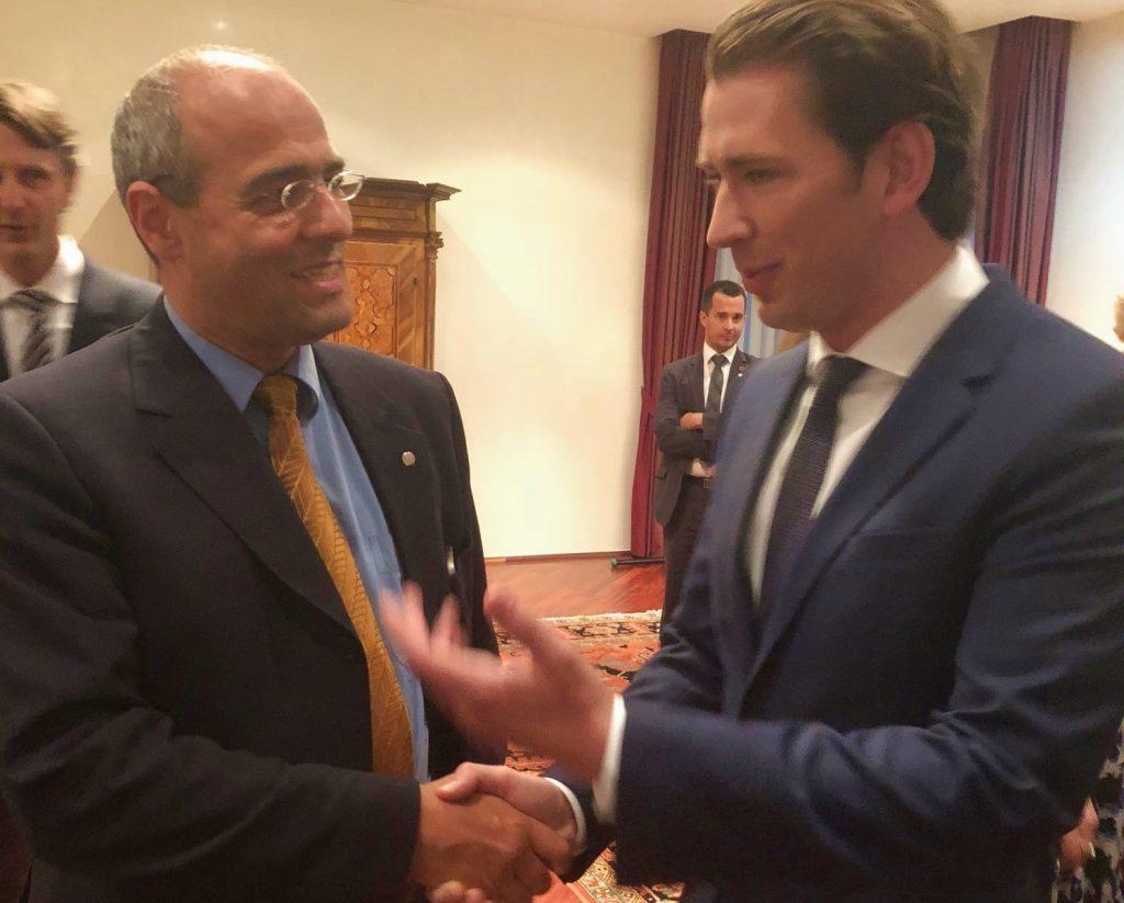 Boehringer in der Botschaft von Österreich
