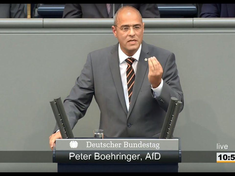 Boehringer in der Haushaltsdebatte des Bundestages