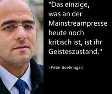 Peter Boehringer zu Mainstreampresse
