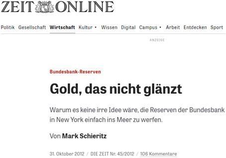Gold der Bundesbank ins Meer versenken?