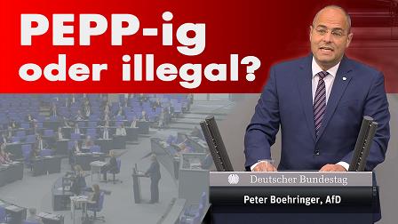 Rede vor dem deutschen Bundestag zu PEPP