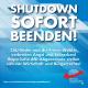 Den Shutdown jetzt beenden