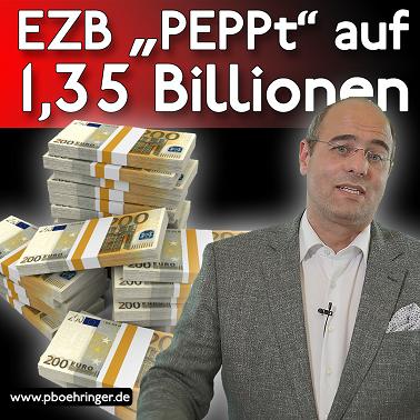 PEPP der EZB wächst auf 1,35 Bio.