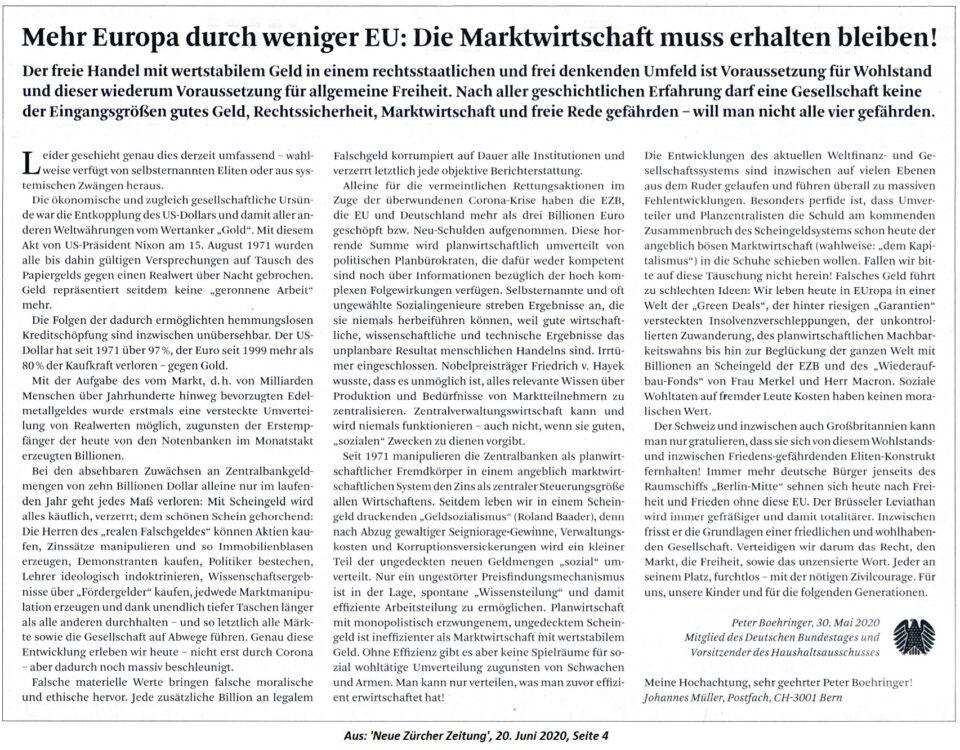 Mehr Europa durch weniger EU