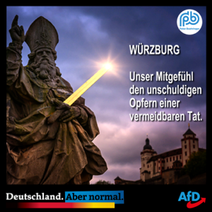 Peter Boehringer zu Würzburger Messerstecherei am 25.06.2021