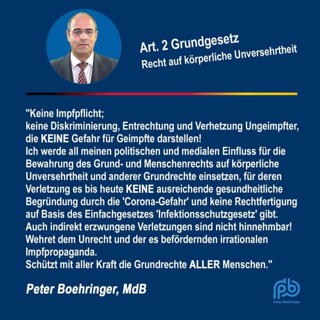 Peter Boehringer zum Beschluss der Ministerpräsidentenrunde 10.08.2021